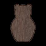 Основание для плакеток медведь